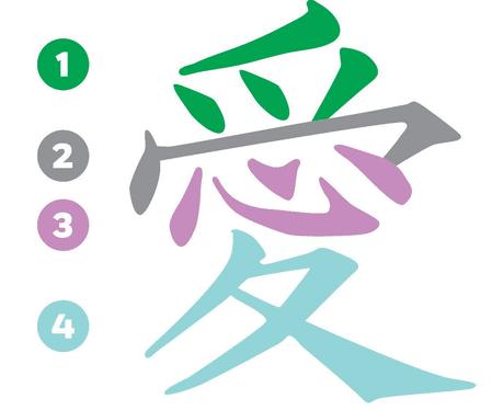 caracter-japones-ai-amor